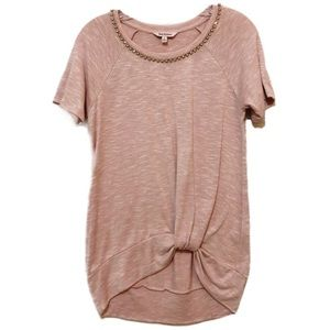 JUICY COUTURE Pink Top Embellished neckline M U2